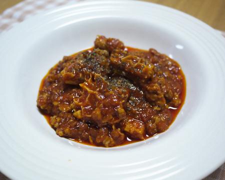 トリッパ(ハチノス)のトマト煮