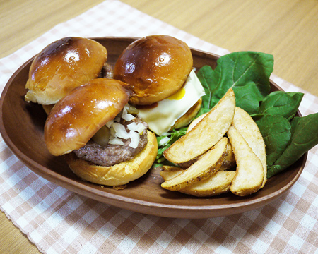 自宅で簡単ハンバーガー